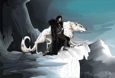 Game of Thrones - Jon Snow fan art Jon Snow, Game Of Thrones Wallpaper, Eddard Stark, A Clash Of Kings, Daenerys Targaryen, Fanart, Hbo Game Of Thrones, Dire Wolf, Love Games