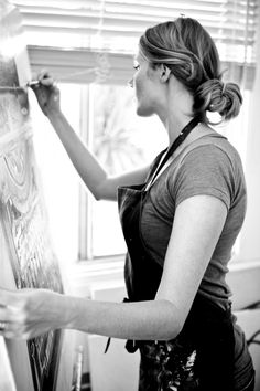 The artist at work.