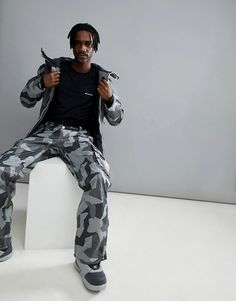 Mens fashion and styles #mensfashion #ad Wear Colour Wear Color Wear Snow Pants in Gray Camo