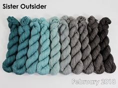 The highest quality hand-dyed, just for you. Saturated Color, Sock Yarn, Crochet Yarn, Gradient Color, Bird Feathers, Merino Wool Blanket, Color Combos, Knitting, February