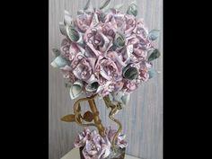 Необычный топиарий- дерево счастья. Цветы из бечевки. Денежное дерево. - YouTube