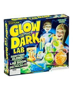 Small scientists who go gaga for glow-in-the-dark items will love this super set that features 20 fantastic projects for mastering the science of fluorescence, phosphorescence, chemiluminescence, bioluminescence, polymers, non-Newtonian fluids, carbon dioxide reactions, crystal formation and nucleation. Kids then answer cool questions like ''What makes a ball bounce?'' while having loads of fun.