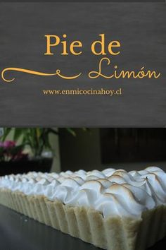 Sweet Pie, Sweet Tarts, Chilean Recipes, Chilean Food, Pastry And Bakery, English Food, Latin Food, Pie Dessert, Sweet And Salty