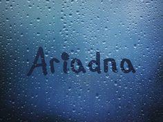 Nombre Ariadna / Name Ariadna / Ariadna / nombre / name / lluvia / gotas / ventana mojada / window with rain / rain