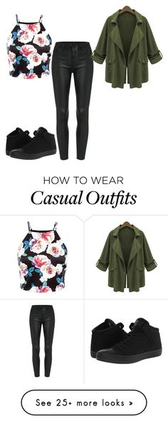 """Casual 2"" by twizzler0106 on Polyvore featuring Converse and Chicnova Fashion"