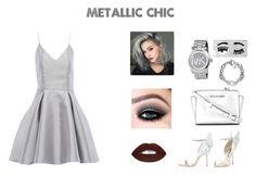 """Metallic Chic!"" by theclosetconnoisseur on Polyvore featuring AX Paris, Sophia Webster, MICHAEL Michael Kors, Michael Kors and Chiara Ferragni"
