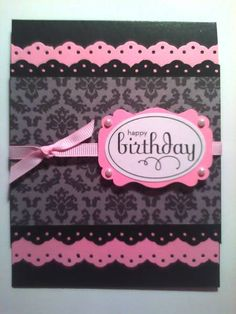 Pink and Black Birthday by chendrickson - Cards and Paper Crafts at Splitcoaststampers