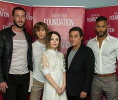 Pablo Schreiber Bruce Langley Emily Browning Ian McShane and Ricky Whittle at American Gods Event