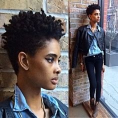 tapered afro woman - Google Search