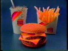 """The commercial dates back a year earlier when the """"King Combo"""" was launched. It ties into the """"Herb"""" campaign (See the Herb BK commercial I posted earlier) D. Free Fast Food Coupons, Hungry Jack's, Shadow Riders, King King, Disney Live, Restaurant Branding, American Food, Tv Commercials, Herb"""