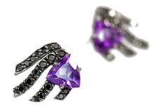 Brinco Trillion Ametista #joia #ouro #diamante #diamond #jewelry #gold #ametista #amethyst #brinco #earrings #fashion #design #chic #jewelryporn #modern