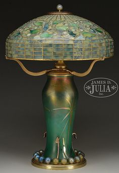 Tiffany Lamps, Tiffany Art, Victorian Lamps, Antique Lamps, Stained Glass Lamps, Leaded Glass, Chandeliers, Jar Lamp, Glass Ball