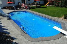 inground pools with diving board and slide. Inground Pools With Diving Board And Slide #scubadivingequipmentwetsuit #ScubaDivingEquipmentandSites N