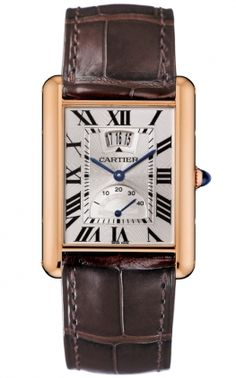 Cartier tank - Gold with Brown band.  sigh...