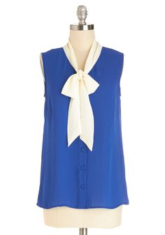 Madison Aptitude Top in Blue. Advertise your fashion savvy in this Myrtlewood top! #blue #modcloth