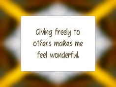 Daily Affirmation for November 25, 2013