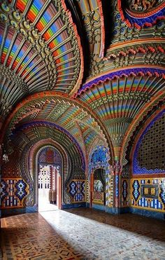 The #Peacock Room in The #SammezzanoCastle -  #Tuscany, #Italy