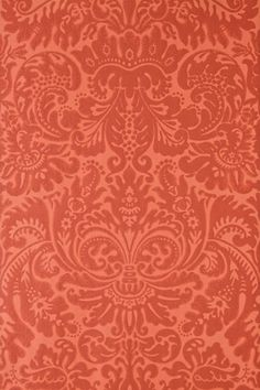 An early 19th century English damask paper originally printed at Silvergate in Norfolk.  Full roll width is 53cm/21