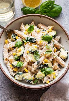 Zucchini Lemon Basil Ricotta Pasta Zuchinni Pasta, Ricotta Pasta, Zucchini, Healthy Pasta Recipes, Lunch Recipes, Cooking Recipes, Pasta Recipies, Dinner Recipes