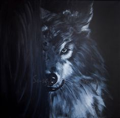 """Wolf"" cm40x40  Susanna Gattuso © Copyright 2017 