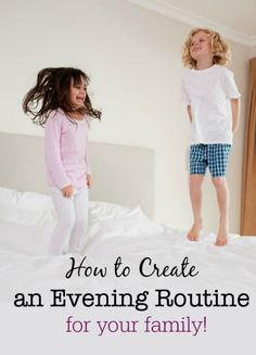 Routines are habits that you create for yourself and your family to get things done at a specific time of day- so here's how to create an evening routine for your family that sets you up the the next day! Morning Routine Printable, Bedtime Routine Chart, Bedtime Routines, Getting Organized At Home, Organized Mom, Night Time Routine, Evening Routine, Mentally Strong, Charts For Kids