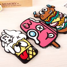 3D Cute Funny Cartoon Food Silicone soft Case cover for Apple iphone6 plus 5S  #Romrichcaseshop