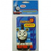 Amscan Thomas The Tank Engine Party Invitations Invites With Envelopes - 8 Pack - Amscan Wholesale Party Supplies, Kids Party Supplies, Wholesale Balloons, Disney Balloons, Birthday Party Invitations, Invites, Party Suppliers, Thomas And Friends, Birthday Balloons