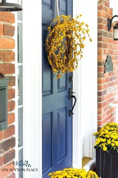 Yellow Wreath To Welcome Spring