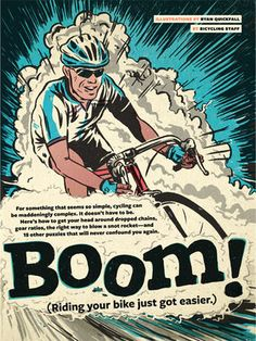 Ryan Quickfall design and illustration. Cycling Art, Cycling Bikes, Bicycling Magazine, Bicycle Workout, Bike Poster, Bicycle Art, Design Poster, Bmx, Vintage