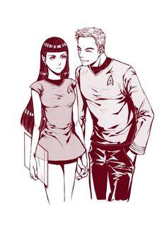 Kirk & fem!Spock