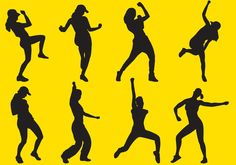 Zumba Silhouettes - Download Free Vector Art, Stock Graphics & Images