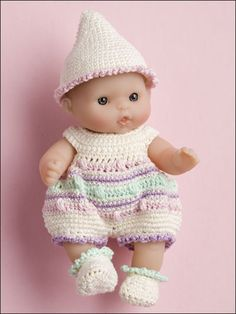 Crochet for Babies & Children - Accessories to Crochet for Kids - Egg-cellent Romper 5 in doll free pattern