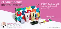 Starting from today there is a bonus at Bon Ton stores (online only and tomorrow instores). Yours with any $27 Clinique purchase. Another free gift with any $55 purchase. http://clinique-bonus.com/other-us-stores/