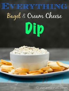 Everything Bagel & Cream Cheese Dip: 6 ingredients, and comes together in minutes!