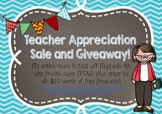 Teacher Appreciation Sale and Giveaway from Amy Lowes' Teachers Pay Teachers Store!