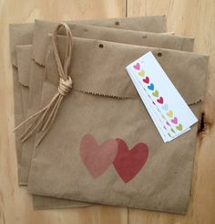 Favour Bag Kit of 4 Full of Hearts // by ToodlesNoodles on Etsy, $10.00