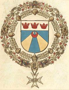 «Jacques d'Estempes [Estampes], seig(neur) de Vallencey, Con(seill)er d'Estat, cappitaine de cinq(uan)te hommes d'Armes des ordonnances, et lieutenant Collonel de la Cavalerye legere de france» (f°323r) -- «Recueil de tous les chevalliers de l'Ordre du Sainct-Esprit, depuis l'institution jusques en la présente année 1623, …», par le sieur de Valles, 1623 [BNF Ms Fr 2769].