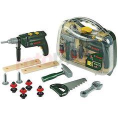 Jeu d'imitation set d'outils avec perceuse Bosch http://www.rotopino.fr/jeu-d-imitation-set-d-outils-avec-perceuse-bosch,58555 #jouet #jeu #enfant #rotopino #bosch