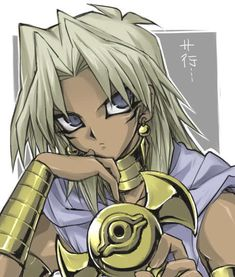 """Marik Ishtar......"""" Who will be my next victim and become Steave?""""  His mind at work."""