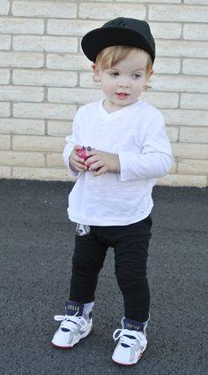 4b596409f Hanes' outfit: top: Gap short sleeve pants: c/o Duke of London shoes:  Jordans hat: Pro Image Sports. SneakerHeddz · Babies got SWAG too!!!