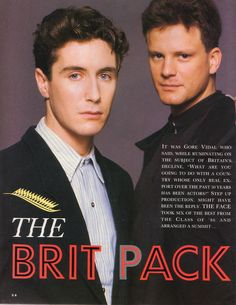 Colin and Paul so young