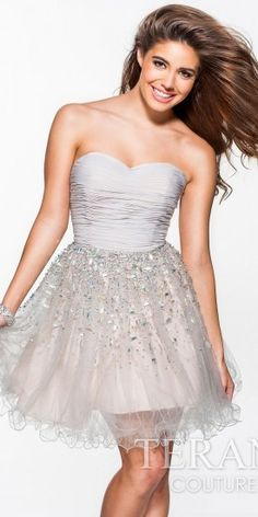 Terani Couture Ombre Crystal Homecoming Dress