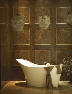 Bathing in luxury Stone - A combination of traditional modern and traditional classic
