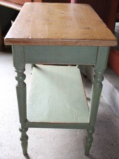 Small Work Counter | From a unique collection of antique and modern industrial and work tables at https://www.1stdibs.com/furniture/tables/industrial-work-tables/
