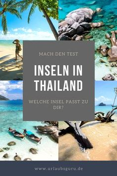 Ich habe die schönsten thailändischen Inseln für euch genau unter die Lupe ge… I have carefully examined the most beautiful Thai islands for you and created a test that shows which island in Thailand suits you best. Thailand Vacation, Thailand Honeymoon, Thailand Travel, Thailand Beach, Bangkok Trip, Honeymoon Ideas, Backpacking South America, Backpacking Asia, Places To Travel