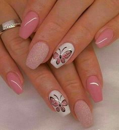 100 Beautiful Butterfly Nail Art Designs and Colors - Spring Nails