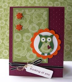 Tuesday, October 26, 2010  Colour Q #56 with Stampin' Up! Owl Punch