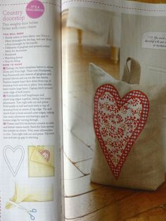 Simple hessian door stop - with or without heart. Can use a coffee sack