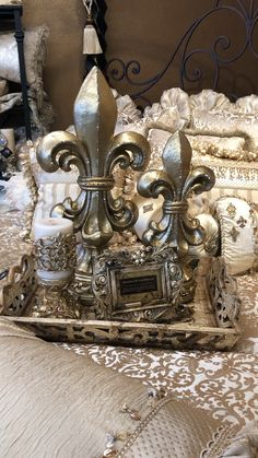 Reilly-Chance Fleur de Lis Table Decor is the perfect addition to any home! Contact us today! Reilly-Chance Fleur de Lis Table Decor is the perfect addition to any home! Contact us today! Old World Decorating, Tuscan Decorating, French Country Decorating, Decorating Ideas, Home Decor Accessories, Decorative Accessories, Tabletop Accessories, Casa Magnolia, Home Decor Bedding
