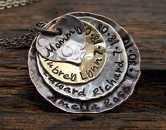 Hey, I found this really awesome Etsy listing at https://www.etsy.com/listing/188619306/four-stacked-mixed-metals-mommy-necklace